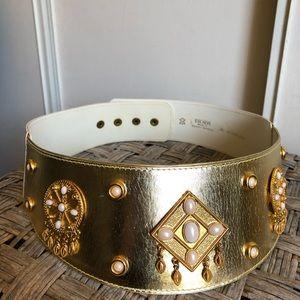 Vintage Escada Gold Beaded Belt